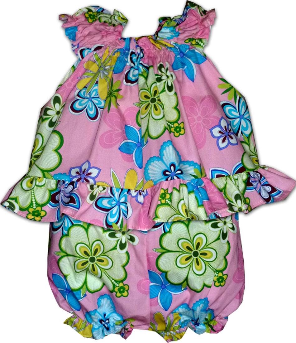 afc65f39aad8 176-3795 Pink Pacific Legend Infant Romper Set