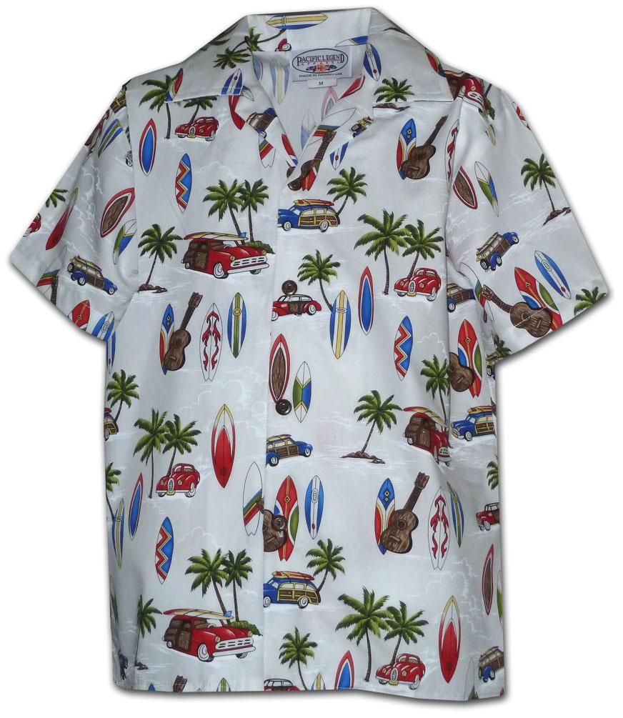 21ca3561 211-3711 White Pacific Legend Boys Shirt