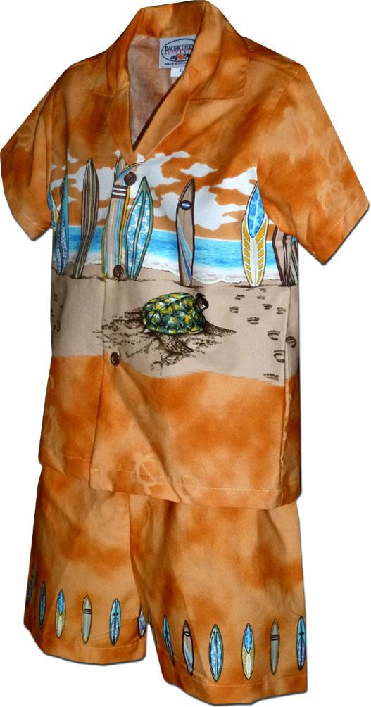370076f91 222-3749 Orange Pacific Legend Border Toddler Cabana Set