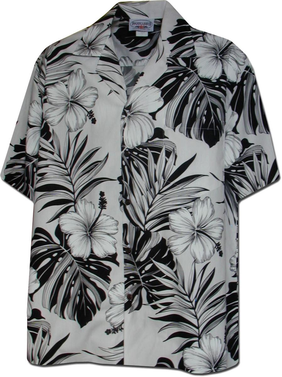 261b5b1a 410-3589 White Men's Hawaiian Shirts