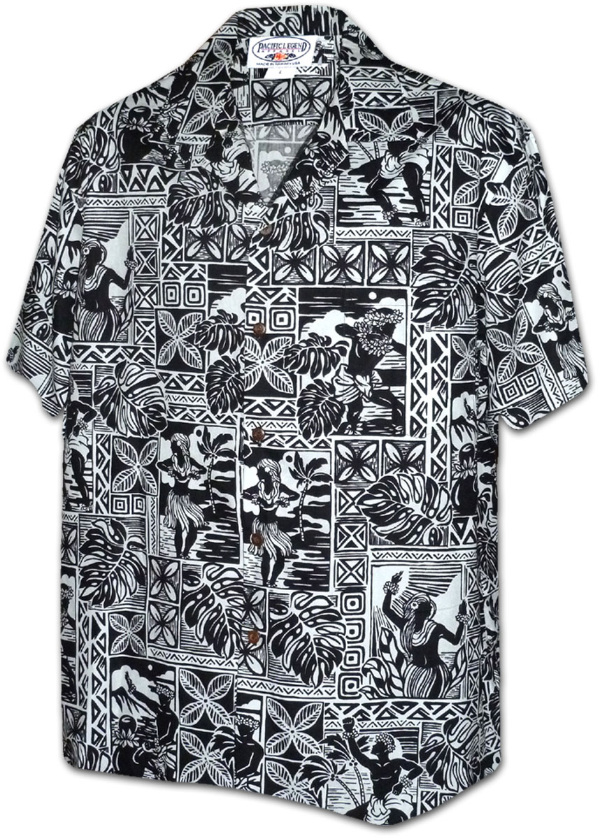 410 3824 black men 39 s hawaiian shirts for Lsu hawaiian print shirts