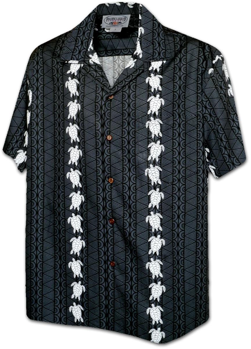 afb8a6f8 410-3832 Black Men's Hawaiian Shirts