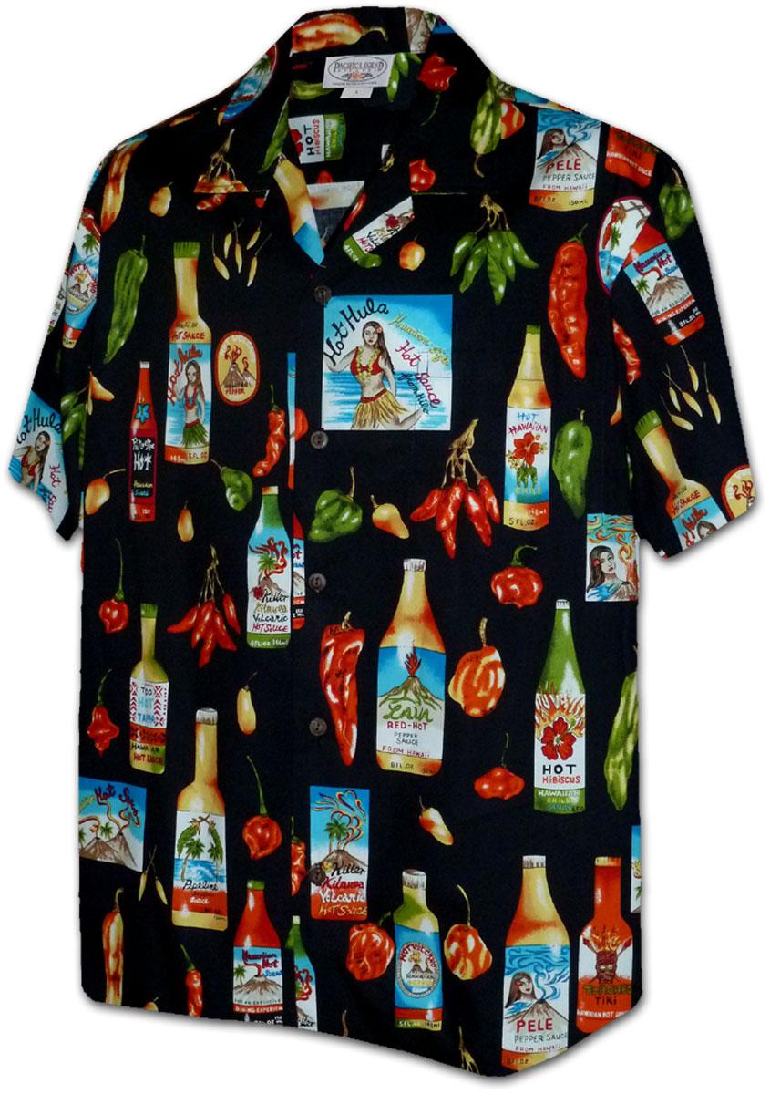 99af1035 410-3840 Black Men's Hawaiian Shirts