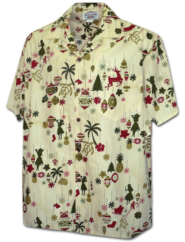 Christmas Hawaiian Shirts.410 3920 Eggnog Men S Christmas Hawaiian Shirts M 3xl