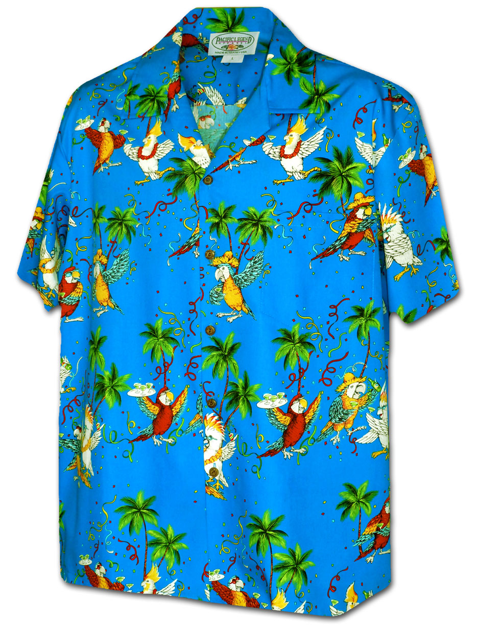 25ab71fe2 410-3952 Blue Men's Pacific Legend Hawaiian Shirts