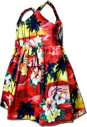 130-3104 Red Pacific Legend Todders Cute Dress