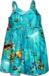 130-3202 Turquoise Pacific Legend Todders Cute Dress
