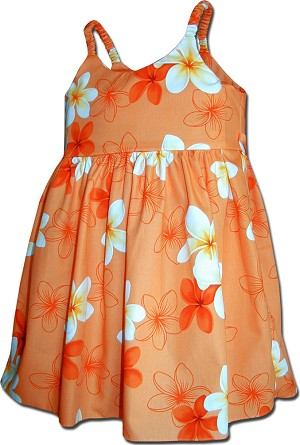 130-3618 Orange Pacific Legend Todders Cute Dress