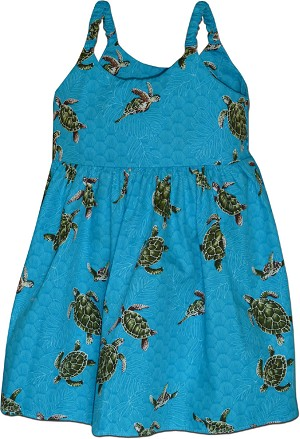 130-3713 Turquoise Pacific Legend Todders Cute Dress