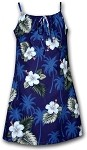 166-2798 Navy Pacific Legend Youth Spaghetti Dress