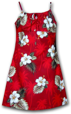 166-2798 Red Pacific Legend Youth Spaghetti Dress