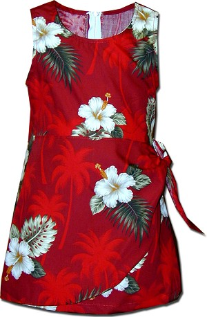 171-2798 Red Pacific Legend Todders Sarong Dress