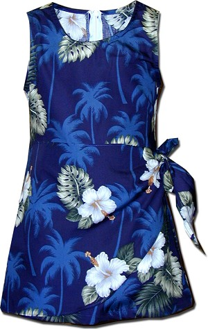 171-2798 Navy Pacific Legend Todders Sarong Dress