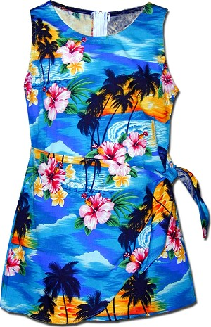 171-3104 Blue Pacific Legend Todders Sarong Dress