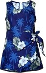 172-2798 Navy Pacific Legend Youth Sarong Dress