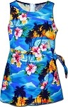 172-3104 Blue Pacific Legend Youth Sarong Dress