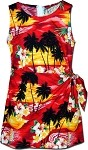172-3104 Red Pacific Legend Youth Sarong Dress