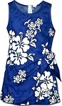172-3156 Blue Pacific Legend Youth Sarong Dress