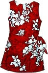 172-3156 Red Pacific Legend Youth Sarong Dress