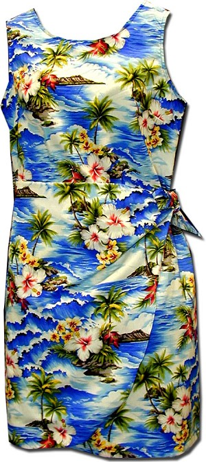 172-3238 Blue Pacific Legend Youth Sarong Dress