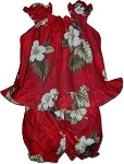 176-2798 Red Pacific Legend Infant Romper Set
