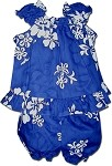 176-3156 Blue Pacific Legend Infant Romper Set