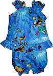 176-3202 Blue Pacific Legend Infant Romper Set