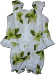 176-3551 Lime Pacific Legend Infant Romper Set