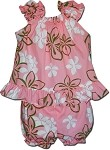 176-3602 Coral Pacific Legend Infant Romper Set