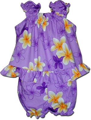 176-3618 Purple Pacific Legend Infant Romper Set
