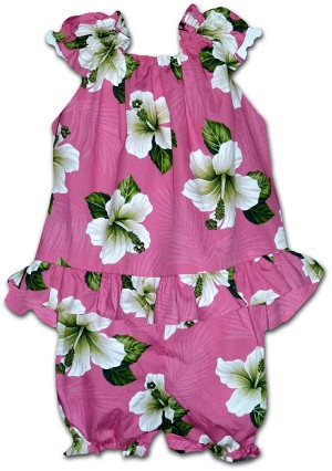 176-3686 Pink Pacific Legend Infant Romper Set