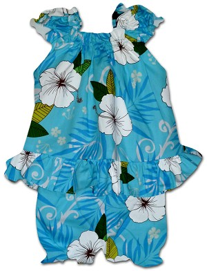 176-3954 Blue Pacific Legend Infant Romper Set
