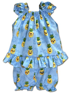 176-3982 Blue Pacific Legend Infant Romper Set