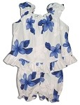 176-3551 Blue Pacific Legend Infant Romper Set