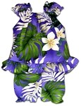 176-3688 Purple Pacific Legend Infant Romper Set