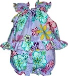 176-3795 Purple Pacific Legend Infant Romper Set