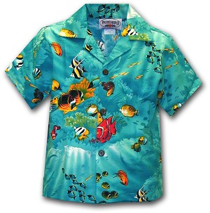 211-3202 Turquoise Pacific Legend Boys Shirt