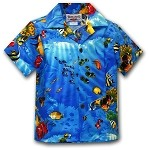 211-3202 Blue Pacific Legend Boys Shirt