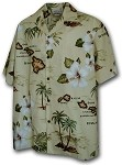 211-3614 Khaki Pacific Legend Boys Shirt