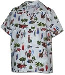 211-3711 White Pacific Legend Boys Shirt