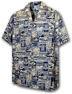 211-4762 Navy Pacific Legend Boys Shirt
