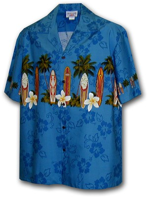 212-3466 Blue Pacific Legend Boys Border Shirt