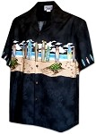 212-3749 BLACK Pacific Legend Boys Border Shirt