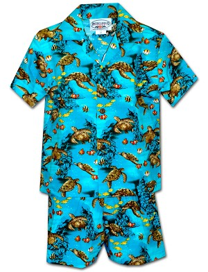 220-3880 Turquoise Pacific Legend Todder Boys Set