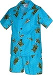220-3713 Turquoise Pacific Legend Todder Boys Set