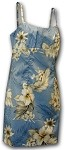 306-3162 Blue Pacific Legend Short Spaghetti Dress