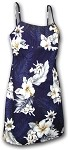306-3162 Navy Pacific Legend Short Spaghetti Dress