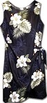 313-2798 Black Pacific Legend Ladies Sarong Dress