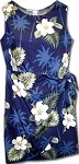 313-2798 Navy Pacific Legend Ladies Sarong Dress