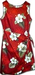 313-2798 Red Pacific Legend Ladies Sarong Dress